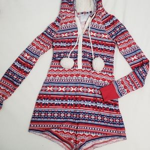 Abercrombie & Fitch Hooded Romper